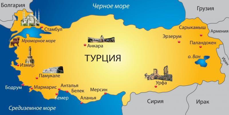 Карта Турция